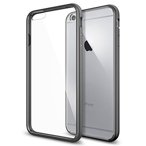 iPhone 6 Plus ケース Spigen [ クリア バンパー] ウルトラ・ハイブリッド Apple iPhone (5.5) (国内正規品) (ガンメタル SGP10896)