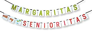 """""""Margaritas with My Senoritas"""" Banner - Bachelorette Party Decorations by Sterling James Company"""