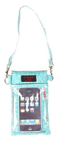 Gmate Luxury Croc Ocean Blue Cell Phone Case/bag/pouch/carrier All in One Design