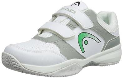 Head Unisex-Child Lazer Velcro JR WHGG Tennis Shoes 275314 White/Green/Grey 2 UK Child, 34 EU
