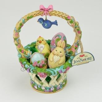 Basketful of Surprises Spring Basket Figurine Set