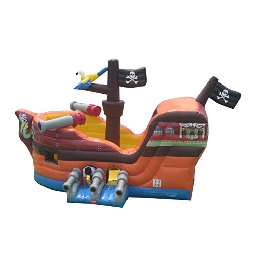 Pirate Ship Bounce House Inflatable Moonwalk with Slide - Includes (1) 1.5 HP Zoom Blower and Free Shipping