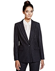 Limited Edition Striped Jacket with Wool