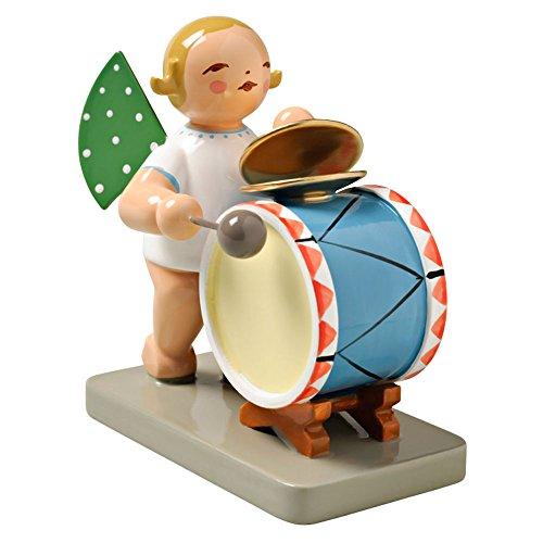 Wendt & Kuhn Blonde Hand Painted Grunhainichen Angel Percussion Figurine