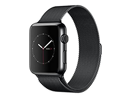 Apple Watch 38mm Acciaio Inossidabile Nero - Loop In Maglia Milanese Nero Siderale MMFK2TY/A