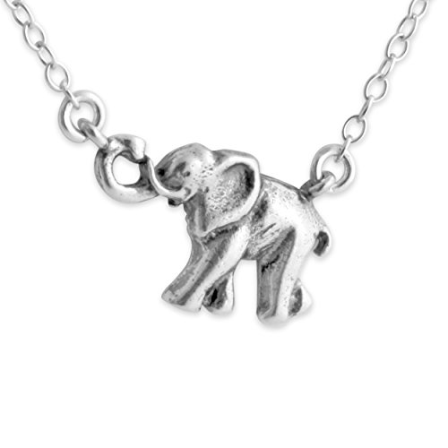 925-sterling-silver-small-elephant-necklace-with-jumper-chain-14-inches