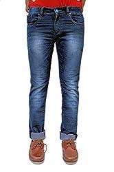 Evanzo Men's Skinny Jeans (RH3CAA701B7_Blue_34W x 32L)