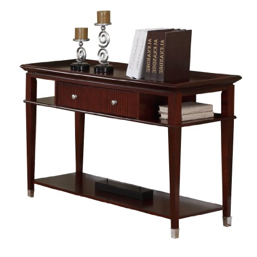 Buy low price poundex console sofa table with storage for Low sofa table
