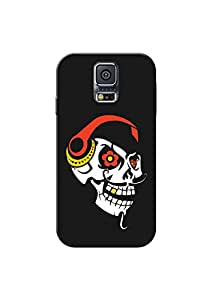 KanvasCases Printed Back Cover For Samsung Galaxy S5 + Free Earphone Cable Organizer