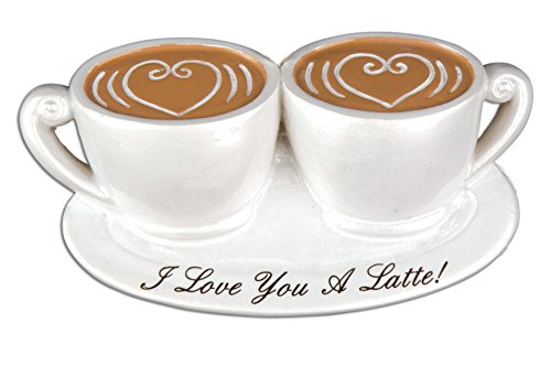 PERSONALIZED CHRISTMAS ORNAMENTS COUPLES - I LOVE YOU LATTE