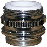 LASCO 09-1451NL No Lead, Dual Thread, Male Hose Faucet Adapter