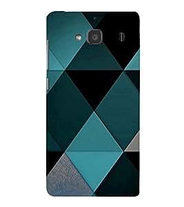 EPICCASE Blue Diamond Pattern Mobile Back Case Cover For Mi Redmi 2 Prime (Designer Case)