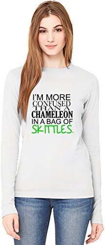 im-more-confused-than-a-chameleon-in-a-bag-of-skittles-slogan-t-shirt-da-donna-a-maniche-lunghe-long