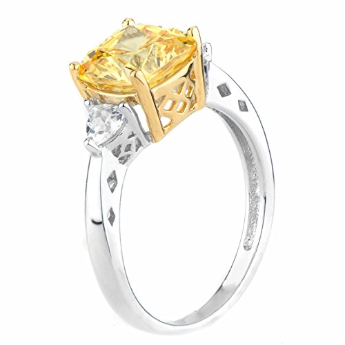 Canary Yellow Simulated Diamond Ring