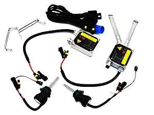 01-09 Nissan Frontier Low Beam + High Beam Bi-Xenon HID Headlight Conversion Kit 9007 Light Blue 10000K