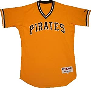 Pittsburgh Pirates Gold Throwback Turn Back the Clock Jersey by Majestic