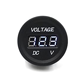 T Tocas(tm) New 12-24v Waterproof LED Dc Digital Display Voltmeter for Car Motorcycle Truck Boat Marine (Blue LED Display)