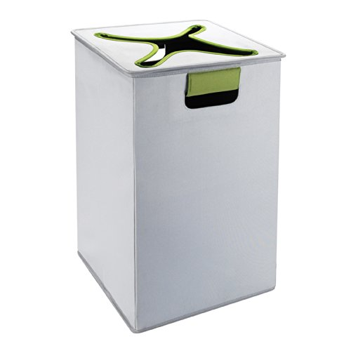 OXO Tot Flip-In Flex Lid Hamper- Gray/Green - 1