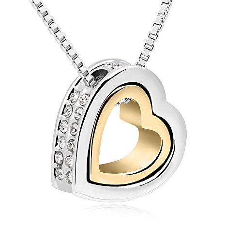 shankming-love-oath-forever-double-heart-necklace-crystal-pendant-with-long-chainsilver-gold