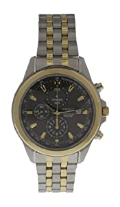 Seiko Mens Stainless Steel Chronograph Watch Grey Dial SNDF06