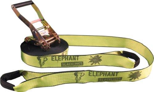 Elephant 8AAC.502.T015 - Slackline 15 m x 5 cm, colore: Giallo neon