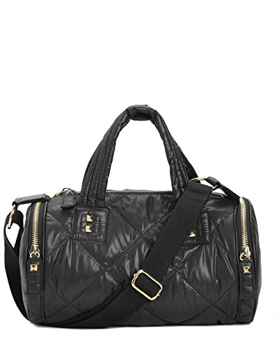 Juicy Couture Hollywood Hideaway Nylon Barrel Duffel Bag, Black (Juicy Couture Side Bag compare prices)