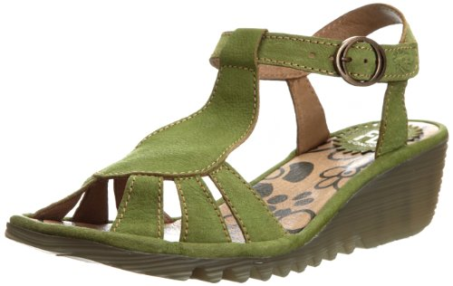Fly London Women's Oily Pistachio T Straps P500384007 6 UK