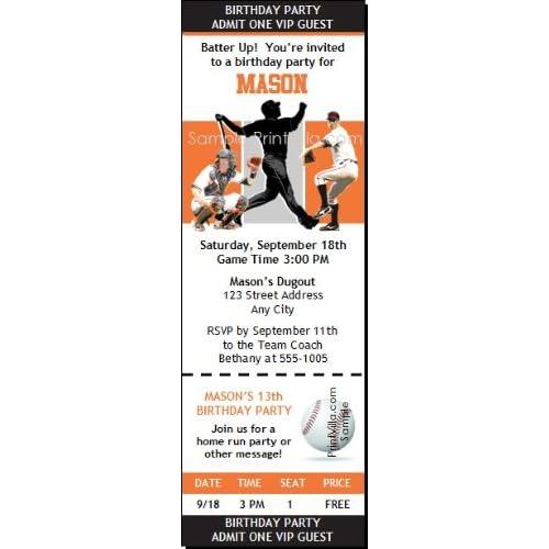 San Francisco Giants Colored Ticket Invitation Sports