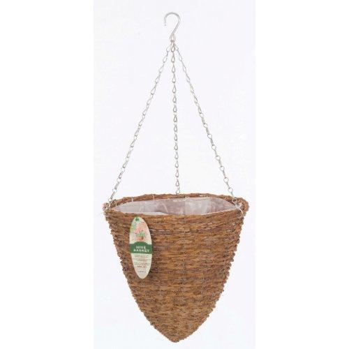 Gardman r298 rustic rattan hanging hive basket 14 - Wicker beehive basket ...