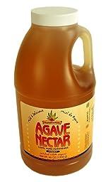 Madhava Organic Light Agave Nectar- Case of Six 46 Oz Bottles- Vegan, Vegetarian Sweetener- Honey, Sugar, Syrup Substitute - Case of 6