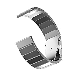 Fitbit Blaze Band, JETech Stainless Steel Bracelet Band Strap for Fitbit Blaze Smart Fitness Watch - for Both Large and Small Size (Silver)