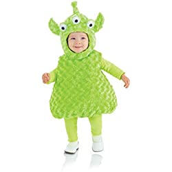 Underwraps Baby's Alien Belly-Babies, Green, Large