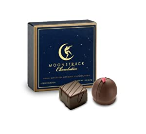 Moonstruck Chocolate 4-Piece Dark Chocolate Truffle Collection