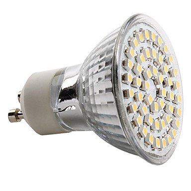 Gu10 3W 48X3528 Smd 120-150Lm 2800-3200K Warm White Light Led Spot Bulb (230V)
