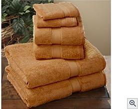 LUXURY 100 Egyptian Cotton 8 Pc HAND Towel Set Copper