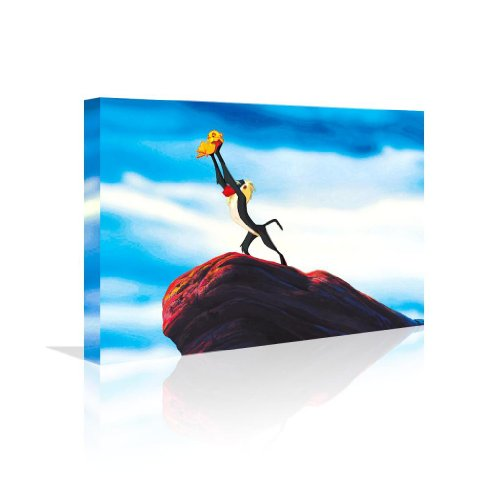 A New King Is Here Canvas 20 X 12 24 X 16 Wall Art Lion King Inspired Gift Kids front-982687