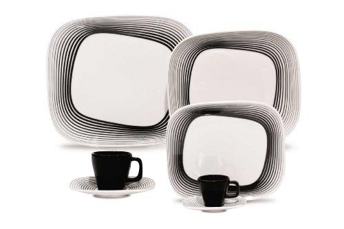 Karim Rashid 20 Pieces Porcelain Dinnerware / Espresso Set (Wisk)