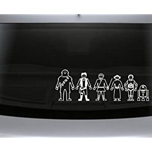 Star Wars Family Decal Set Stick People Car or Wall Vinyl Decal Stickers