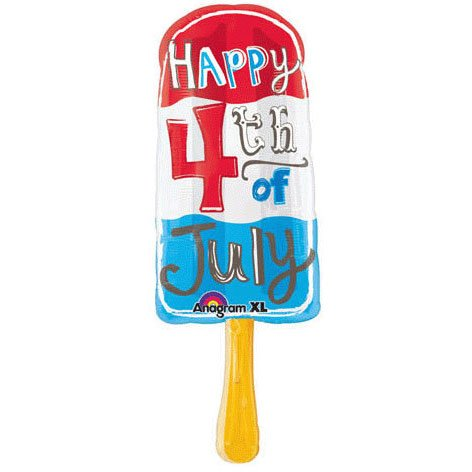 July 4th Popsicle Super Shape (1 per package)