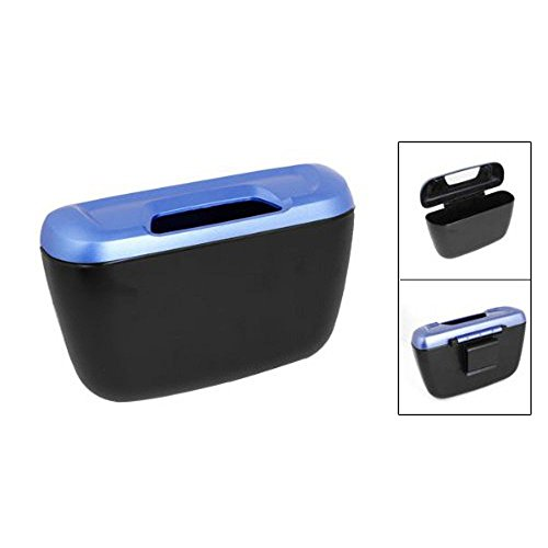 Celix Mini Auto Car Dustbin for Hyundai i20 Active – Garbage Collector Box Trash Bin – Blue/Black