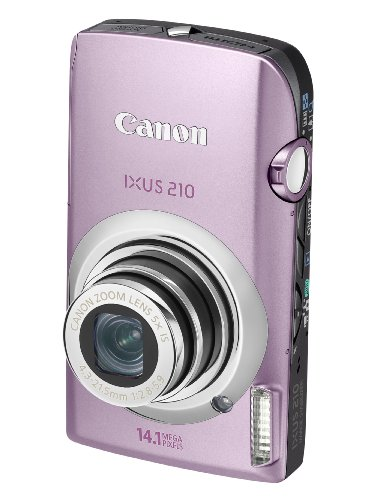 Canon IXUS 210 Digital Camera - Pink (14.1 MP, 5x Optical Zoom) 3.5 Inch PureColor Touch LCD