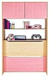 Storage Cupboard Pink Over Bed Unit 2 Door 2 Shelves Maple