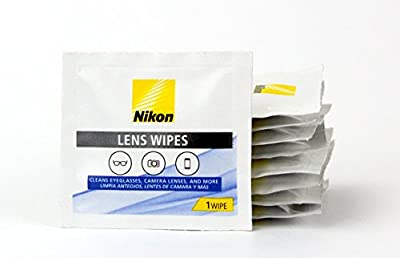 Nikon Pre-Moistened Lens Cloths Wipes 200 Count (2 Pack) 400 Wipes Total
