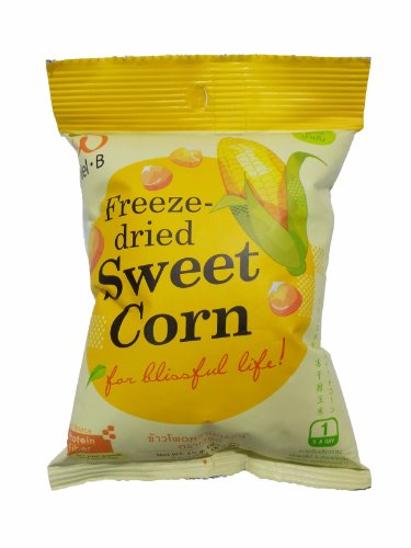 Wel B Freeze Dried Crispy Sweet Corn 0.53-Ounces Bag, 6-Count