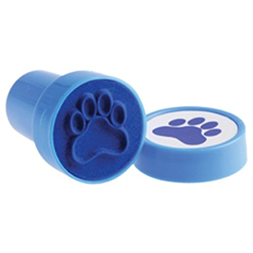 Lot Of 6 Blue Dog Puppy Paw Print Mini Stampers