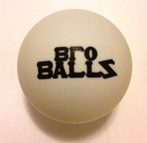 Bro Balls - Premium Beer Pong Balls - 12 Pack, White Color with Black Logo, Tournament Quality Construction and Materials, Sink More Cups with Seamless Matte Finish, High Performance on a Portable, Floating, or Custom Table - Money Back Guarantee Model: