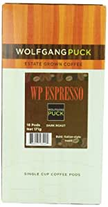 Wolfgang Puck Coffee Espresso Pods, 18-Count Pods (Pack of 3)