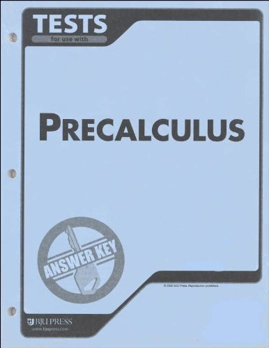 Precalculus Tests and Answer Key BJU