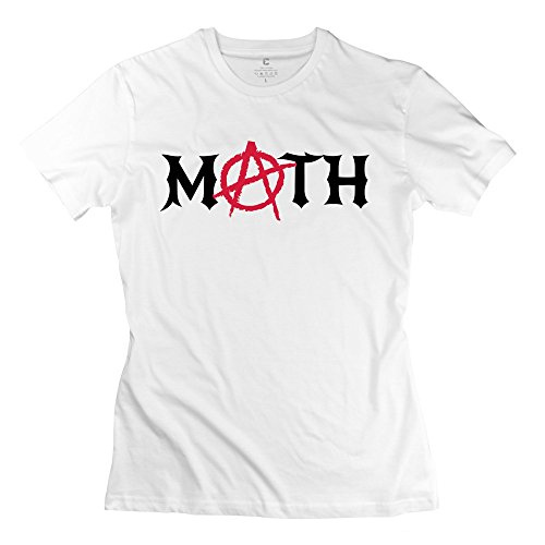 100% Cotton Awesome Math Anarchy T-Shirt For Woman - Round Neck front-639782