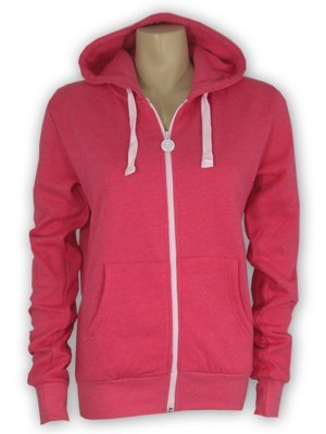 Criminal Damage Marl Pink Men's Skinny Fit Hoodie